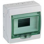 SCHNEIDER 13443 KAEDRA Mini elosztó, átlátszó ajtó, falon kívüli, 1x8 modul, szürke