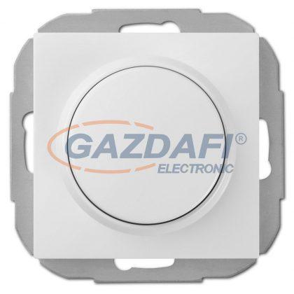 """ELEKTRO-PLAST 1407-10 """"Sentia"""" fényerőszabályzó kapcsoló, Ledekhez, süllyesztett, fehér, IP20, 0-100W, 250V, 10A, keret nélkül"""