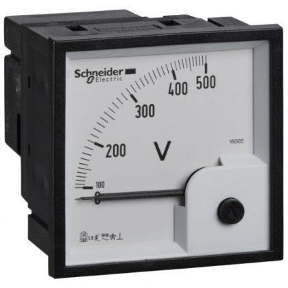 SCHNEIDER 16005 PowerLogic VLT voltmérő 0...500V AC 72x72