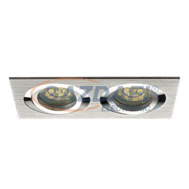 """KANLUX """"Seidy"""" süllyesztett lámpatest, MR16, 12V, 2x50W, alumínium, billenthető"""