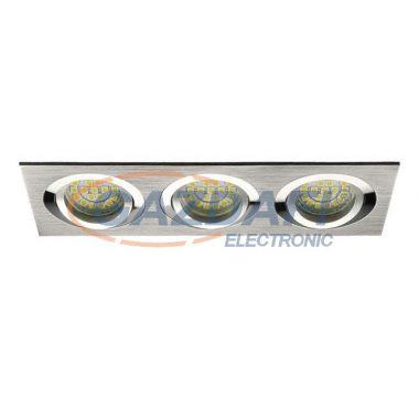 """KANLUX """"Seidy"""" süllyesztett lámpatest, MR16, 12V, 3x50W, alumínium, billenthető"""