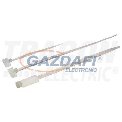 TRACON 200J Jelzőcímkés kábelkötegelő, natúr 210×2,5mm, D=5-45mm, PA6.6, (a×b=15×30mm)