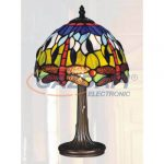TIFFANY Asztali lámpa, 208-08T, E14, 40W