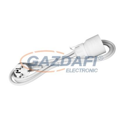 COMMEL 220-504 hosszabbító kábel dugóval és aljzattal, 4m, 16A 250V~3500W, H05VV-F 3x1.5, fehér