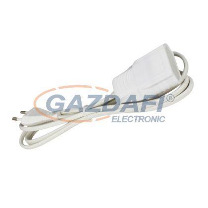"""COMMEL 223-102 hosszabbító kábel dugóval és aljzattal """"EURO"""", 4m, 2.5A 250V, H03VVH2-F 3x0,75, fehér"""