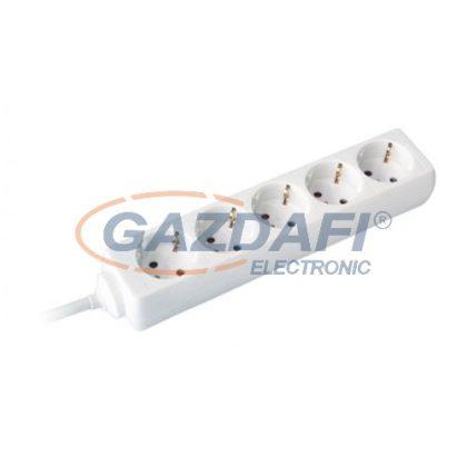 COMMEL 232-502 elosztó, 5 dugaljas, 3m, 16A 250V~3500W, H05VV-F 3x1.5