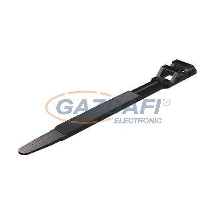 OBO 2330342 550 9X760 SW Szalagbilincs kettős zár 9x760mm fekete poliamid