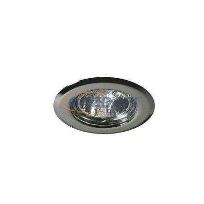 KANLUX süllyesztett spot lámpatest, GX5,3, MR16, 12V, 50W, króm, IP20, acéllemez ház