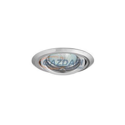 KANLUX süllyesztett spot lámpatest, Gx5,3, MR16, 12V, 50W, króm, billenthető, IP20, acéllemez ház