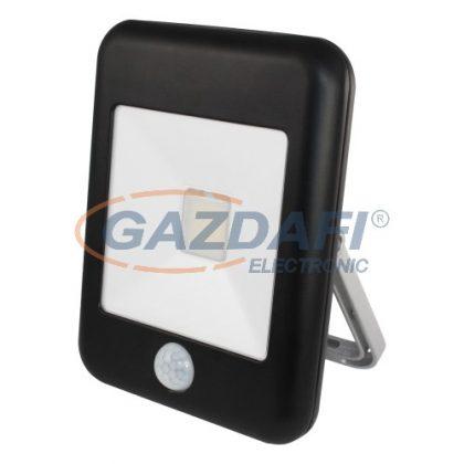 """COMMEL 307-521 """"Deco"""" LED fényvető mozgásérzékelővel, 20W, 1400lm, 4000K, fekete, 240V, IP44, fekete"""
