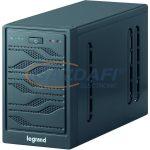 LEGRAND 310009 NIKY 600 VA 5-30 perc BEM: C14 KIM: 1xC13+1xSchuko USB vonali interaktív részlegesen szinuszos szünetmentes torony (UPS)