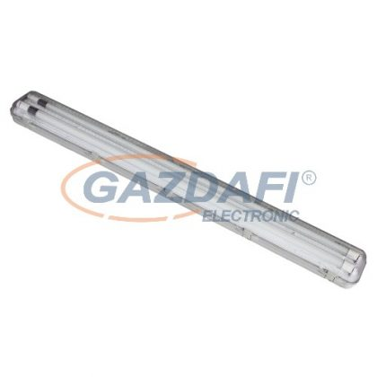 COMMEL 344-623 Por- és páramentes lámpatest 2x9W LED fénycsővel IP65