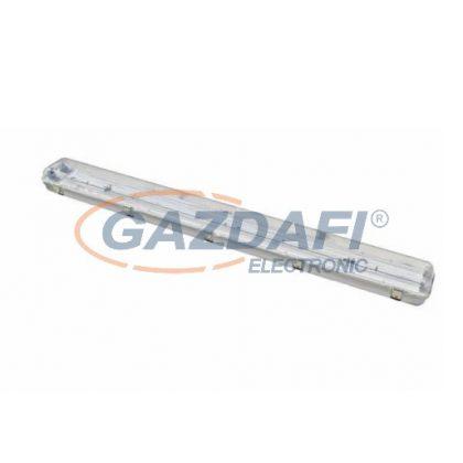 COMMEL 344-616 Por és páramentes fénycsöves armatúra LED fénycsővel, 2x22W, 6500K, IP65