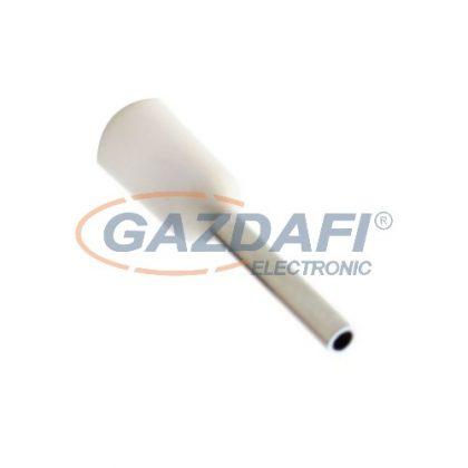 COMMEL 365-801 szigetelt érvéghüvely, fehér, 075mm2