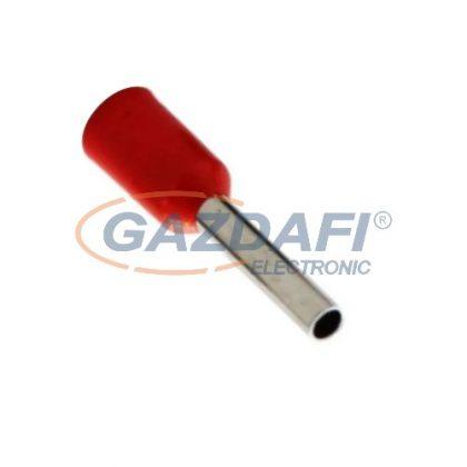 COMMEL 365-802 szigetelt érvéghüvely, piros, 1,00mm2