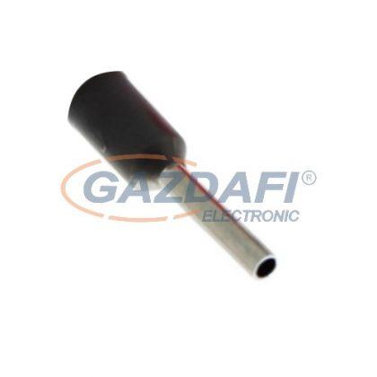 COMMEL 365-803 szigetelt érvéghüvely, fekete, 1,50mm2