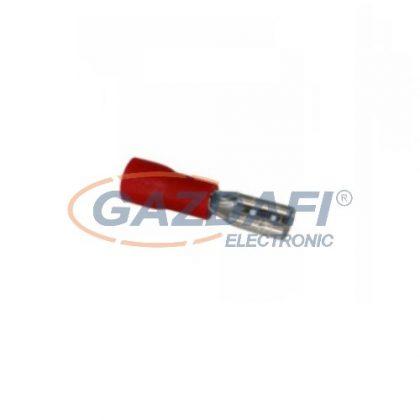 COMMEL 365-821 Szigetelt rátolható hüvely, 0,8x2,8mm / 0,5-1,5mm2 - piros (25db)