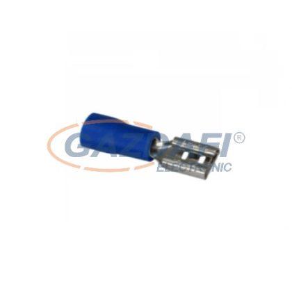 COMMEL 365-823 Szigetelt rátolható hüvely, 0,8x4,75mm / 1,5-2,5mm2 - kék (25db)