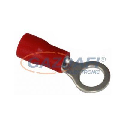 COMMEL 365-882 szigetelt ónozott réz saru készlet 0,5-1,5mm2 piros, átmérő: 5,3mm