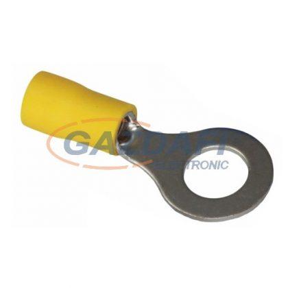 COMMEL 365-885 szigetelt ónozott réz saru készlet 4,0-6,0mm2 sárga, átmérő: 8,3mm