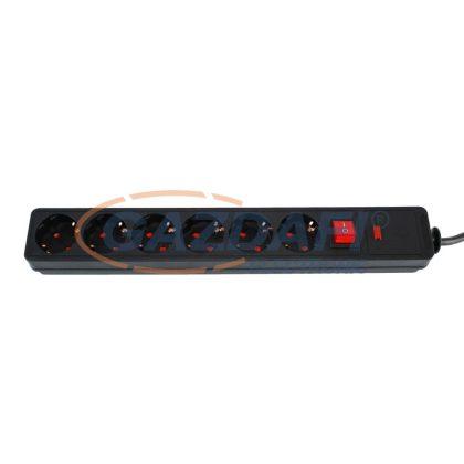 COMMEL 380-105 6-os túlfeszültségvédelmi elosztósáv
