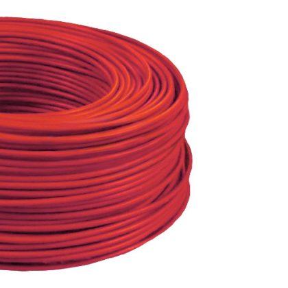 MCU 6mm2 rézvezeték tömör piros H07V-U