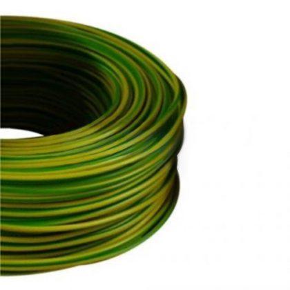 MCU 6mm2 rézvezeték tömör zöld/sárga H07V-U