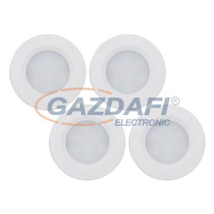 MÜLLER LICHT 400078 LED bútorvilágító szett, 7W, 300Lm, 4000K, Ø 55x10mm, 4db