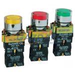 ELMARK LED-es ipari nyomógomb, EL2-BW3471, 24V, 6A, piros