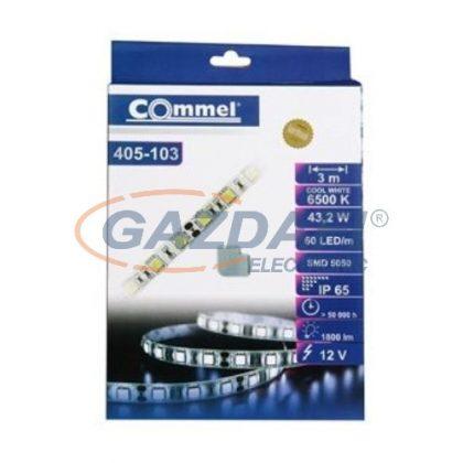 COMMEL 405-103 LED szalag, kültéri, 3m, 6500K + LED tápegység 3A, 12V