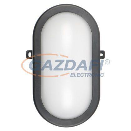 COMMEL 407-512 LED ovál hajólámpa, 12W, 780Lm, 4000K, IP54, fekete
