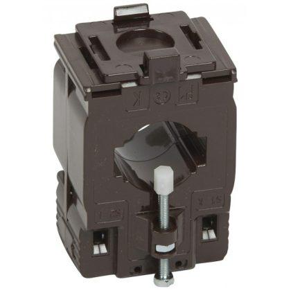 LEGRAND 412114 Egyfázisú áramváltó 600/5A, (Ø27 mm) kábelhez vagy (32,5x10,5 vagy 25,5x15,5 mm) gyűjtősínhez