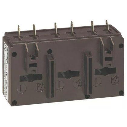 LEGRAND 412157 Háromfázisú áramváltó 250/5A, (Ø8 mm) kábelhez vagy (20,5x5,5 mm) gyűjtősínhez