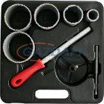 SG PRO 420013 körkivágó készlet kőzethez, műanyag dobozban, 9 részes