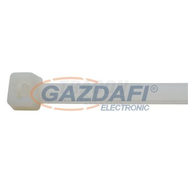 TRACON 450PR Normál kábelkötegelő, natúr 450×7.8mm, D=35-130mm, PA6.6