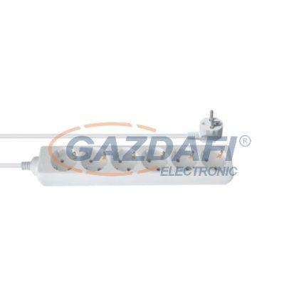 ELMARK 6-os hálózati elosztó, H05VV-F, 3x1.5mm², 5m