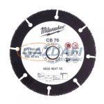 MILWAUKEE 4932464716 Karbid vágókorong, 76mm