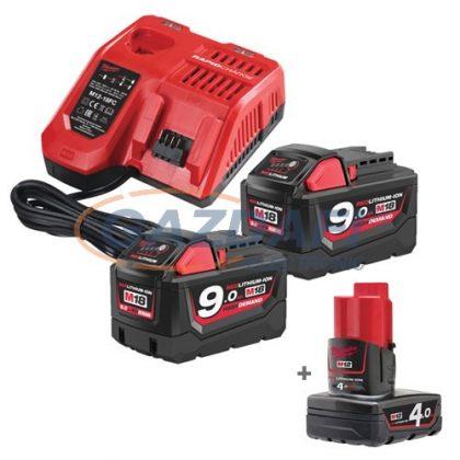 MILWAUKEE M18 NRG-902 Akkumulátor és töltő szett + ajándék