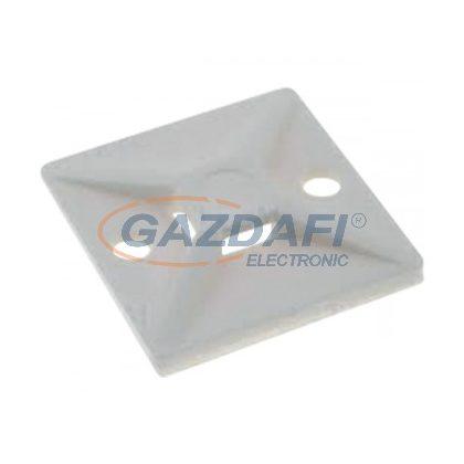 ELMARK kábelkötegelőtalp, 25x25mm, fehér, 100db/csomag