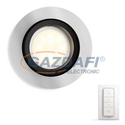 PHILIPS Milliskin Hue 50411/48/P7 alumínium álmennyezeti intelligens vezérelhető spot lámpatest, 5.5W 2200-6500K