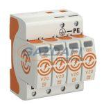 OBO 5095214 V20-4-550 Surgecontroller V20 négypólusú kivitel, 550V IP20