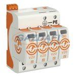 OBO 5095314 V20-4+FS-550 Surgecontroller V20 4-pólusú, távjelzéssel, 550V IP20