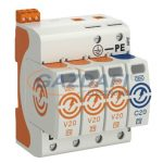OBO 5095333 V20-3+NPE+FS-280 Surgecontroller V20 3+1 kivitel, távjelzéssel, 280V IP20