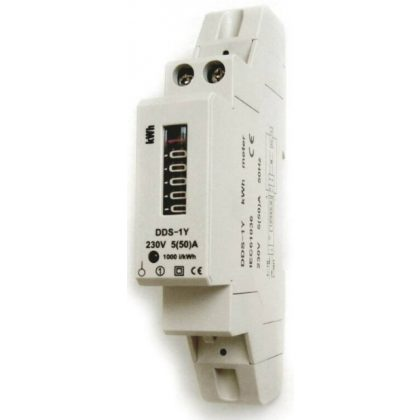 GAO 5258H elektromechanikus almérő DIN sínre, 1P, 5(50)A 1000imp/kWh, szürke, 230V