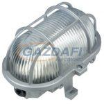 COMMEL 56113 Műanyag rácsos ovál hajólámpa, szürke, 230V, E27, 60W, IP44