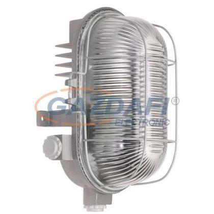 COMMEL 56400 hajólámpa, fémrácsos, szürke, 230V, E27, 100W