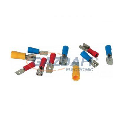 ELMARK szigetelt rátolható csatlakozó csap, piros, 0.5-1.0mm2, MDD 1.25 - 187, 100db/csomag