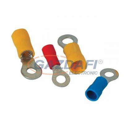 ELMARK szigetelt, ónozott réz szemessaru, RVL 5.5-4, 4.0-6.0mm2, sárga, 100db/csomag