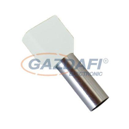 ELMARK szigetelt dupla érvéghüvely, fehér, 2x0.5mm2, 8mm, TE0508, 100db/csomag