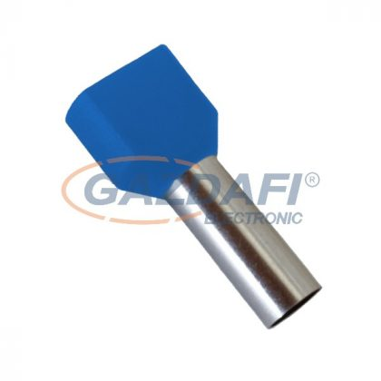 ELMARK szigetelt dupla érvéghüvely, kék, 2x0.75mm2, 8mm, TE7508, 100db/csomag